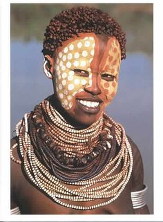 Karo Woman with Painted Face Ethiopia