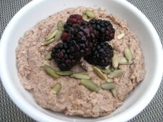 No oat Oatmeal!  After eating the paleo way for over two months now this has quickly become my all time favorite meal!