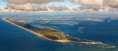 Vue aérienne de l'île Terschelling (Pays-Bas)