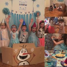 Frozen bday party - ideas and decoration. Ledove kralovstvi.