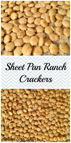 Sheet Pan Ranch Crackers – Sweeter With Sugar Oyster Cracker Snack, Ranch Oyster Crackers, Homemade Crackers, No Sugar Foods, Recipe For Mom, Sheet Pan, Easy Meals, Easy Recipes, Cravings