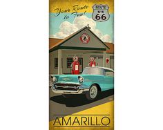 Amarillo Texas by TexasPoster on Etsy