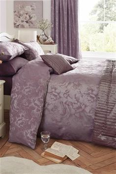 Buy Mauve Jacquard Bed Set from the Next UK online shop