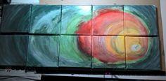 PUZZLE ABSTRACTO #pintura #acrílico, #arte