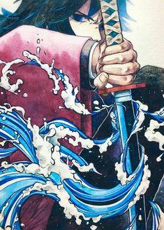 Kimetsu no Yaiba {Demon Slayer} - Giyu Tomioka Otaku Anime, Anime Boys, Manga Anime, Anime Demon, Anime Art, Demon Slayer, Slayer Anime, Manga Japan, Samurai Art