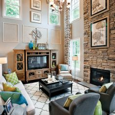 Two Story Fireplace Design Ideas Pictures Remodel And Decor