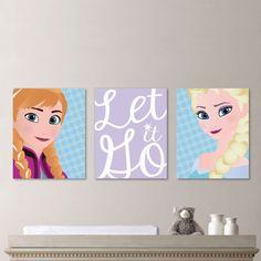 Baby Girl Nursery Art Frozen Art Frozen by RhondavousDesigns2