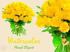 Yellow Floral Bouquet Floral Frame Clip art by MagicalStudio