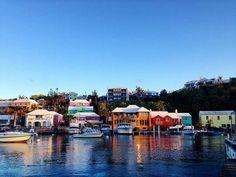 """The Colorful Village of Flatts"" :@ryanlampano . . . #bermuda #wearebermuda #gotobermuda #colors #village #wanderlust #waterlust #photography #houses #architecture #island #ahhbermuda #destinationbermuda #twilight #sunday #iphone"