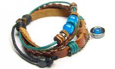 Leather Bracelet Charm Bracelets Braid Bracelet