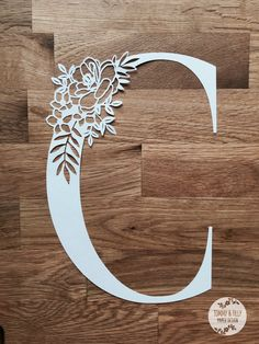 Floral Letter 'C' SVG PDF Design by TommyandTillyDesign on Etsy