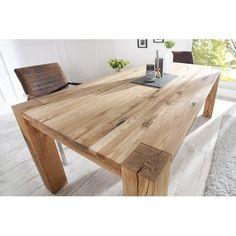 Magnifique table à manger contemporaine coloris naturel! Sa structure est fabriquée en bois massif de haute qualité et peut accueillir jusqu'à 8 personnes. ...