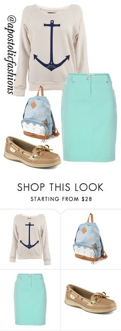 """Apostolic Fashions #385"" by apostolicfashions ❤ liked on Polyvore featuring Gosse de Paris and Sperry"