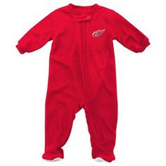 Baby Reebok Detroit Red Wings Footed Pajamas aww..! ♡