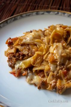 Cookbook Recipes, Beef Recipes, Recipies, Cooking Recipes, Food And Drink, Pasta, Lunch, Orzo, Meat