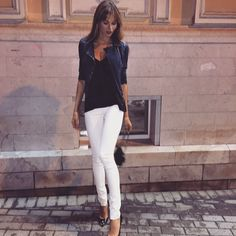 trotsko_masha's Instagram posts   Pinsta.me - Instagram Online Viewer Masha Trotsko, White Jeans, Celebs, Fashion Outfits, Instagram Posts, Crushes, Pants, Girls, Clothing