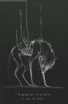 Wolf drawing art work bones black and white spirit animal Art Sketches, Art Drawings, Arte Dope, Illustrations, Illustration Art, Vent Art, Arte Obscura, Arte Horror, Creepy Art