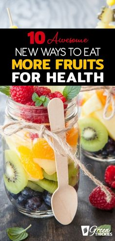 We all know we should eat fruits for health reasons but we often struggle to get enough. Here I share my top 10 ways to eat more fruit. Fruit List, Eat Fruit, Fruit Drinks, Fruit Smoothies, Fruit Recipes, Smoothie Recipes, Healthy Recipes, Fruit Facts, Healthy Fruits