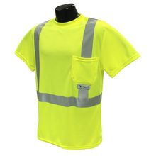Radians Hi Vis Green T-Shirt Class 2 ST11-2PGS | Hi Vis Safety Direct will beat any other price , we are #1 in Hi Visibility Items .