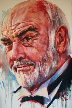 portrait of Sean Connery by Tachi pintor