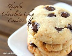 Flourless Chocolate Chip Cookies Recipe - Kate's Healthy Cupboard