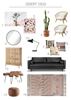 Desert Digs living room concept by Oleander + Palm Desert Digs Wohnzimmerkonzept von Oleander + Palm Bohemian Living Rooms, Living Room Lounge, Chic Living Room, Living Room Furniture, Living Room Decor, Modern Southwest Decor, Ibiza, Transitional Living Rooms, Trendy Home