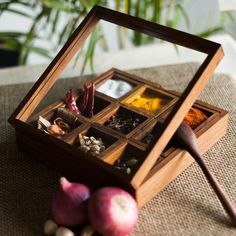 High quality, handcrafted spice box, masala dabba – Ecollectics