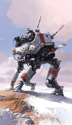 "Ian McQue on Twitter: ""AT-ST *now in color* http://t.co/3LKQITWKdD"""
