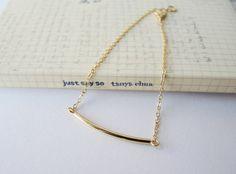 Gold bar Armband minimal Schmuck von kaiandmi auf Etsy
