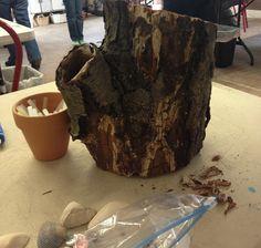 How to make a tree stump fairy house.