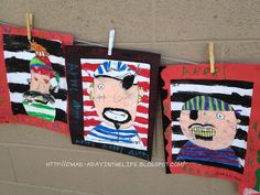 Pirate portraits -- ARRR! (These look so cute! Thanks from http://123kindergarten.com)