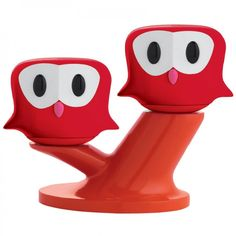 Salz / Pfeffer Set Eulen Pic & Nic rot - e-my #red #salt #pepper #owl