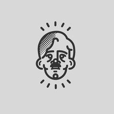 Design of characters. #icon #line #design #symbol #face #art #cartoon #illustration  #theknick #cliveowen #tv #art www.rafasanemeterio.com