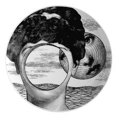 the personality has been pushed aside, can you get it back? Piatto 'Tema e Variazioni' by Piero Fornasetti.