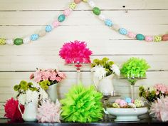 A pretty Easter party scene.