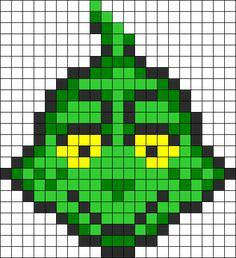 The Grinch  Dr. Seuss perler bead pattern