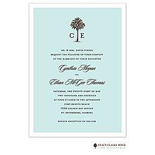 Luau, Tropical, Pool and Beach Party Invitations Palm tree blue