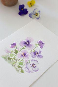 Watercolor Art Lessons, Watercolor Paintings For Beginners, Watercolor Projects, Watercolor Techniques, Watercolor Cards, Floral Watercolor, Watercolor Pencils, Watercolor Logo, Watercolor Trees