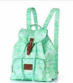 Cute Mint Tribal Print Bookbag Victoria Secret Backpack