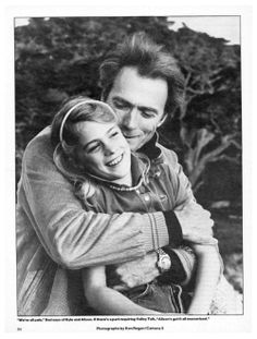 Clint Eastwood and his daughter Allison ~ 1983