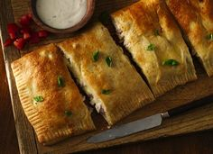 Chicken and Ham Slab Sandwiches - Gourmet Hot Pockets! ;)  **Giveaway!**