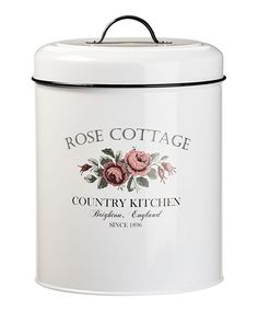 Large Rose Cottage Canister