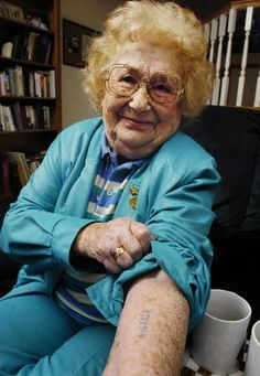 Manya Kornblit, WWII Holocaust, Survivor of 5 concentration camps including Auschwitz while 9 of her family members died. -- That story is uplifting and depressing at the same time. This article is a few years old and talking about how she finally passed away at the ripe age of 83... this woman is an inspiration.