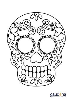 Home Decorating Style 2020 for Coloriage Halloween Tete De Mort Mexicaine, you can see Coloriage Halloween Tete De Mort Mexicaine and more pictures for Home Interior Designing 2020 19844 at SuperColoriage. Day Of The Dead Mask, Day Of The Dead Party, Day Of The Dead Skull, Mexican Halloween, Fall Halloween, Halloween Crafts, Sugar Scull, Sugar Skull Art, Sugar Skull Painting