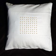 Scatter Cushion Cover made using hand beaded designs on Likoma Island, Lake Malawi Scatter Cushions, Throw Pillows, Living Room Accessories, Home Living Room, Cushion Covers, Beading, Africa, Island, Craft