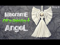 Autumn Crafts, Holiday Crafts, Book Page Crafts, Crochet Angels, Angel Crafts, Ornament Tutorial, Macrame Tutorial, Macrame Projects, Macrame Patterns