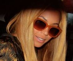 Beyonce in NYC's East Village wearing Spectaculars Sunglasses. Model Alterf is Silk lined and Hand made in the USA