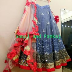 Brides by Sonal and pankaj.Modern yet conventionalonly on customization.They have taken care of each and every detail while crafting this stunning art piece. Beautiful lehenga with heavy hand embroidery work. Whatsapp for your bookings at +919669166763 . 28 November 2017