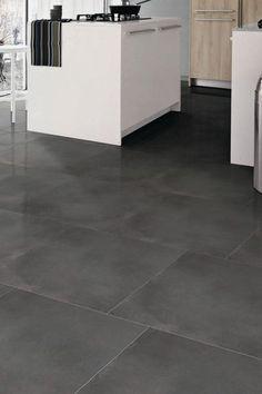 """Clay Lux"" anthracite tiles, porcelain stoneware, 45 x 45 cm, euros / m ."