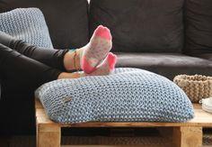 Kissen aus Textilgarn - nicht nur für die Füße